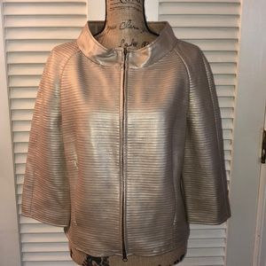 bagatelle metallic faux leather jacket